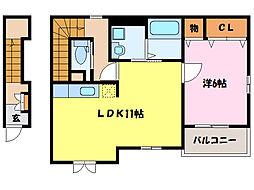 ポライトリーIII[2階]の間取り
