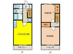 Rハウス仏生寺[2階]の間取り