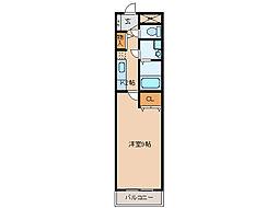 フラット21[3階]の間取り