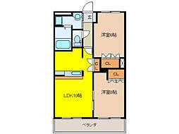 小城苑[3階]の間取り