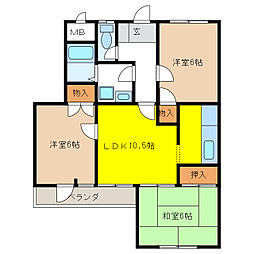 センプレKATO[2階]の間取り