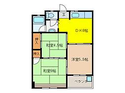 ハイツ松野[306号室]の間取り