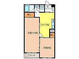 松井ビル[3階]の間取り