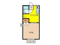 ユニメントオカダ[2階]の間取り