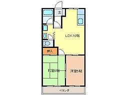 グリーンハウス A[2階]の間取り