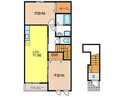 プライムガーデンB[2階]の間取り
