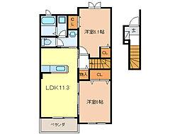 ペルマネンテ[2階]の間取り