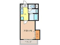 安田学研会館 中棟 オートロック[2階]の間取り