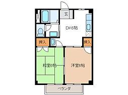 オリオンハイム[1階]の間取り