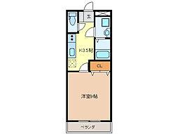 フェアリーII[1階]の間取り