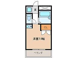 フローレス雨屋[2階]の間取り