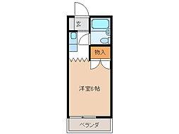古田コーポ[1階]の間取り