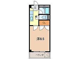 オリタテハイツA[206号室]の間取り