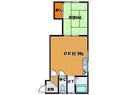 北海道函館市大森町の賃貸アパートの間取り