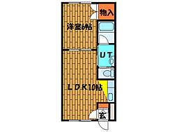 北海道函館市豊川町の賃貸アパートの間取り