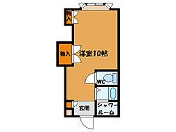 函館市電5系統 千歳町駅 徒歩1分の賃貸アパート 1階ワンルームの間取り