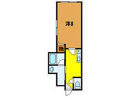北海道函館市時任町の賃貸マンションの間取り