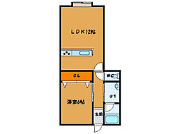北海道函館市的場町の賃貸アパートの間取り
