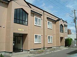 北海道函館市富岡町3丁目の賃貸アパートの外観