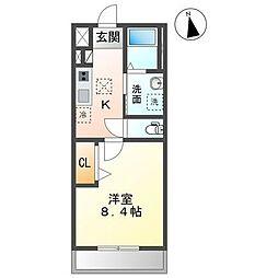 JR内房線 長浦駅 徒歩30分の賃貸アパート 1階1Kの間取り