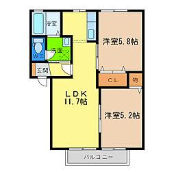 ディアス昭和I[2階]の間取り