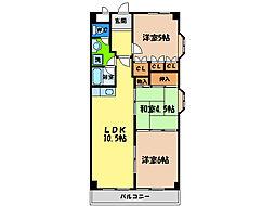 第14柴田マンション[7階]の間取り