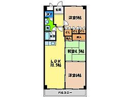 第17柴田マンション[5階]の間取り