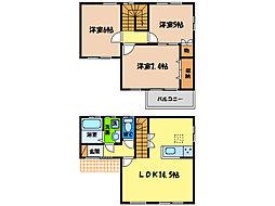 [一戸建] 徳島県徳島市新南福島2丁目 の賃貸【/】の間取り
