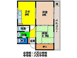 ゆたか荘[2階]の間取り