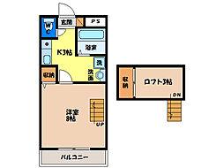 ラピタ沖浜[1階]の間取り