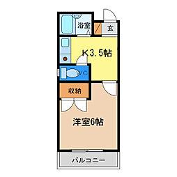 シティガーデン富田[2階]の間取り