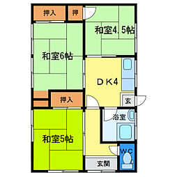 [一戸建] 徳島県徳島市八万町下千鳥 の賃貸【徳島県 / 徳島市】の間取り