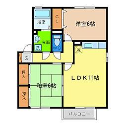 サンステージ小松島I[1階]の間取り
