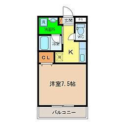 ピース・カーザ[1階]の間取り