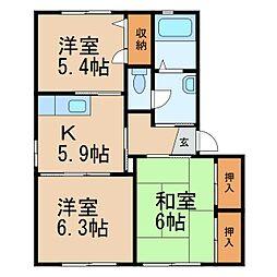 グランメール福島[2階]の間取り