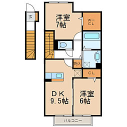 D-room延時[2階]の間取り