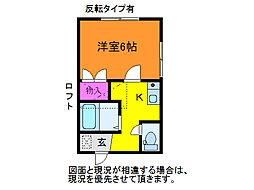 ハイツTOKIO[2階]の間取り