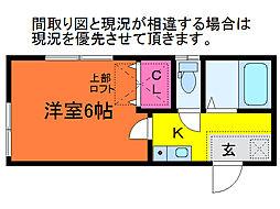ハイツTOKIO[1階]の間取り