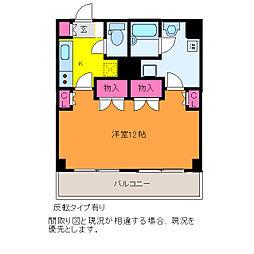 プレステージ新潟[4階]の間取り