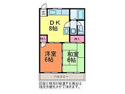 コーポ関谷[2階]の間取り