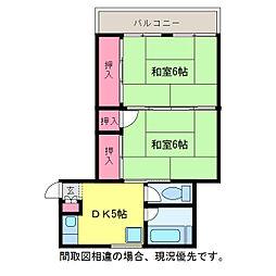 藤マンション[4階]の間取り