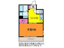 ユートピア三愛新島[2階]の間取り