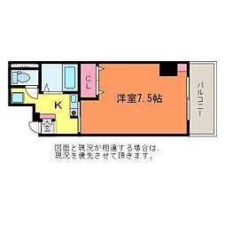 ゆうマンション[7階]の間取り