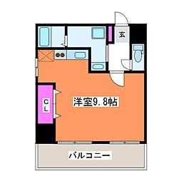 リバティープラザ花園II[7階]の間取り