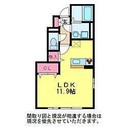 カーサ・カラーラ[1階]の間取り