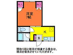 コーポロビニエ[2階]の間取り