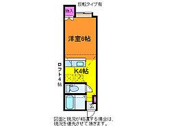 アパートメント・エコルセB[1階]の間取り