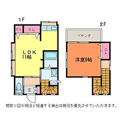 関屋昭和町2丁目 早福貸家[1階]の間取り