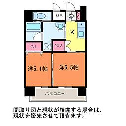 ヒルズ乃木坂[6階]の間取り