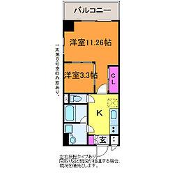 グランコンフォート笹出[7階]の間取り